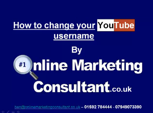 How to change your YouTube username