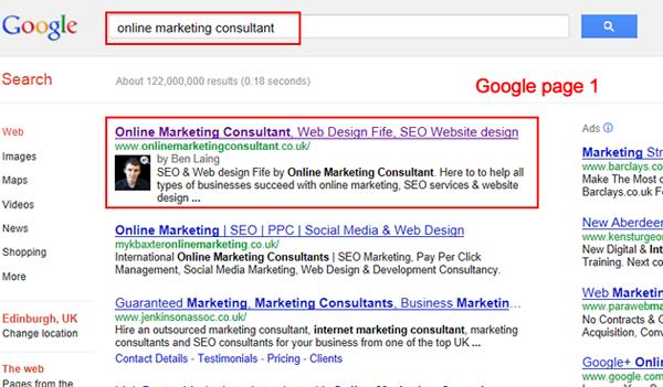 Online Marketing Consultant SEO