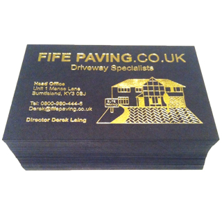 Fife Paving Business Cards