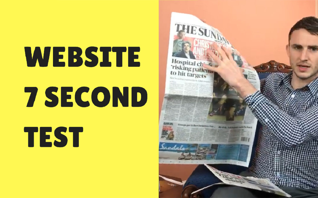 Website 7 Second Test (how to grab users attention) – BEN'S BUSINESS PODCAST #13