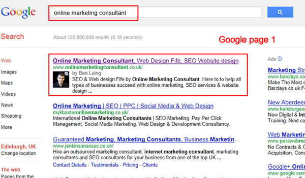 Online Marketing Consultant SEO