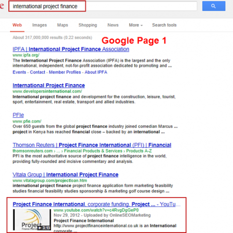 International Project Finance SEO