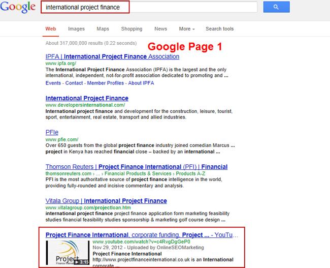 International Project Finance SEO