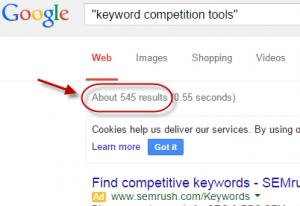 keyword competetion tools