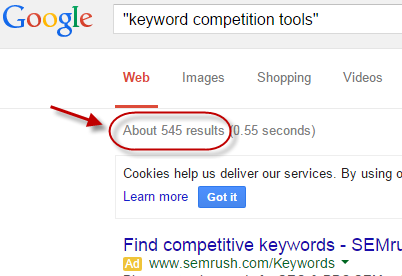 3 Keyword Competition Tools